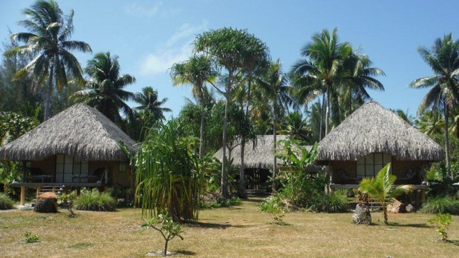 Französisch Polynesien Bora Bora Pension Alice & Raphael Bungalow im Garten