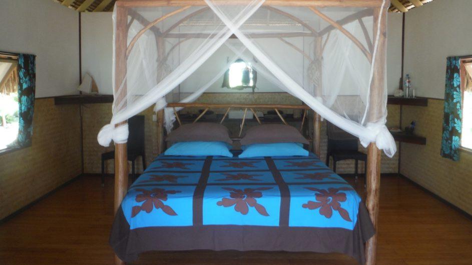 Französisch Polynesien Bora Bora Pension Alice & Raphael Bungalow Schlafzimmer