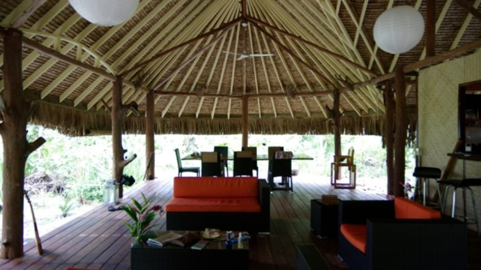 Französisch Polynesien Bora Bora Pension Alice & Raphael Lounge Restaurant