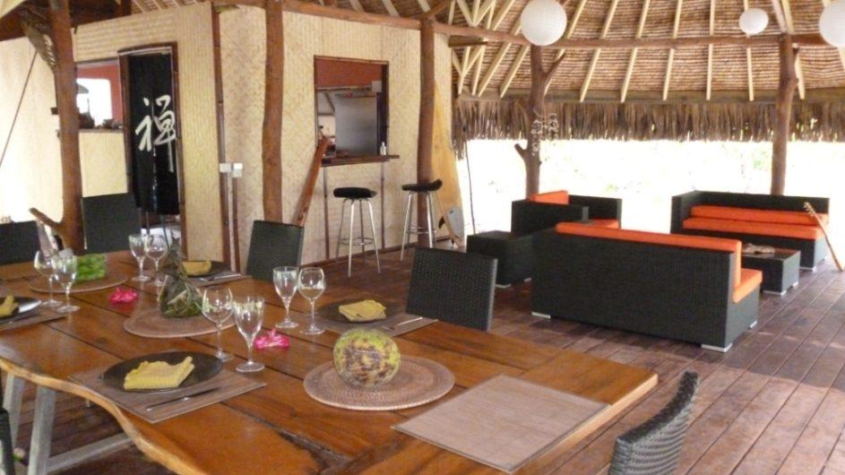 Französisch Polynesien Bora Bora Pension Alice & Raphael Restaurant Lounge