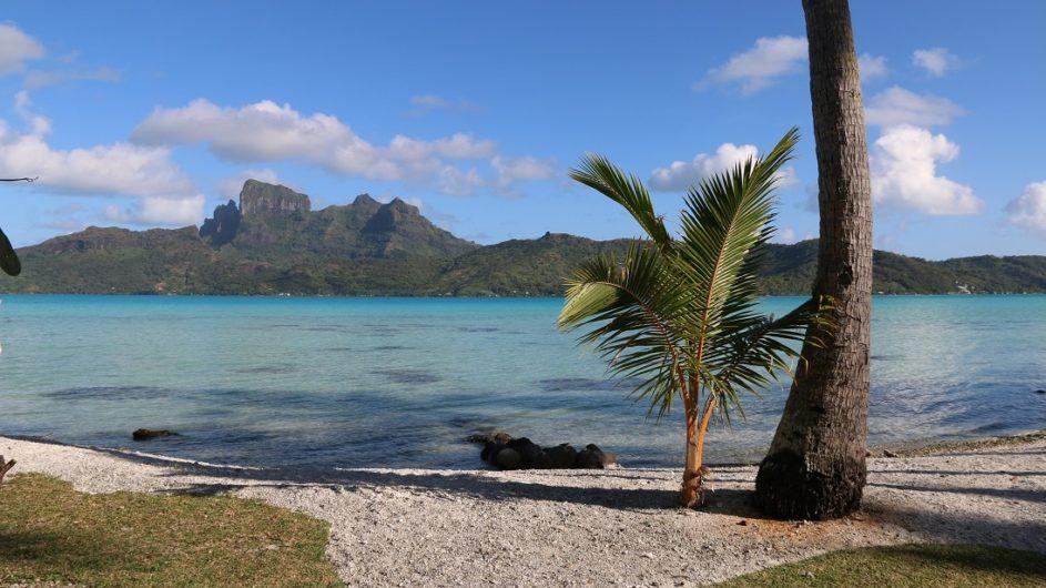 Französisch Polynesien Bora Bora Pension Alice & Raphael Strand und Aussicht