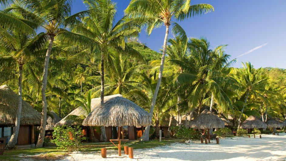 Französisch Polynesien Bora Bora Sofitel Marara Beach Resort Strand Bungalows