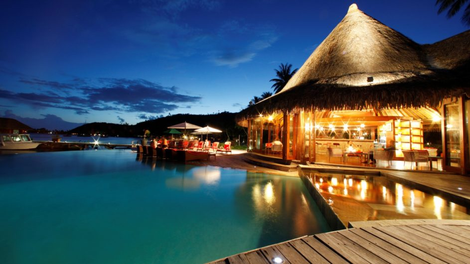 Französisch Polynesien Bora Bora Sofitel Marara Beach Resort Hurican Bar