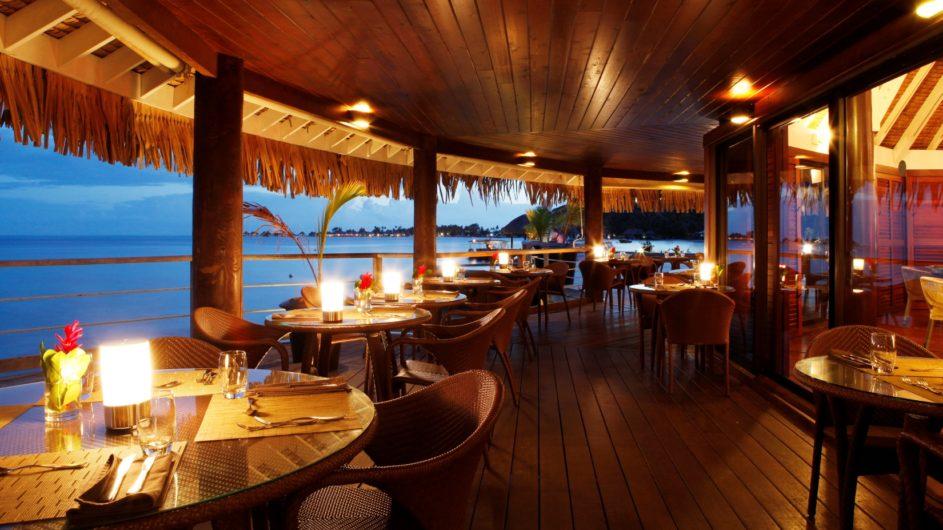 Französisch Polynesien Bora Bora Sofitel Marara Beach Resort Restraurant Terrasse