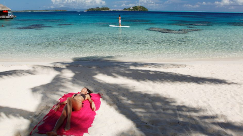 Französisch Polynesien Bora Bora Sofitel Marara Beach Resort Strand