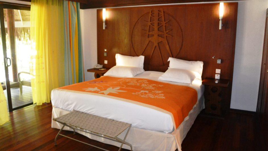 Französisch Polynesien Bora Bora Sofitel Marara Beach Resort Garten Bungalow innen