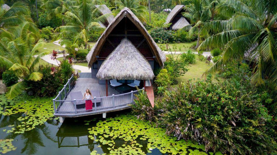 Französisch Polynesien Huahine Maitai Lapita Village Lake Bungalow