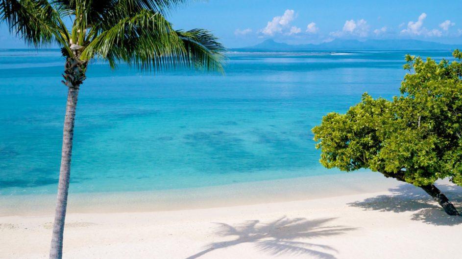 Französisch Polynesien Huahine Maitai Lapita Village Strand