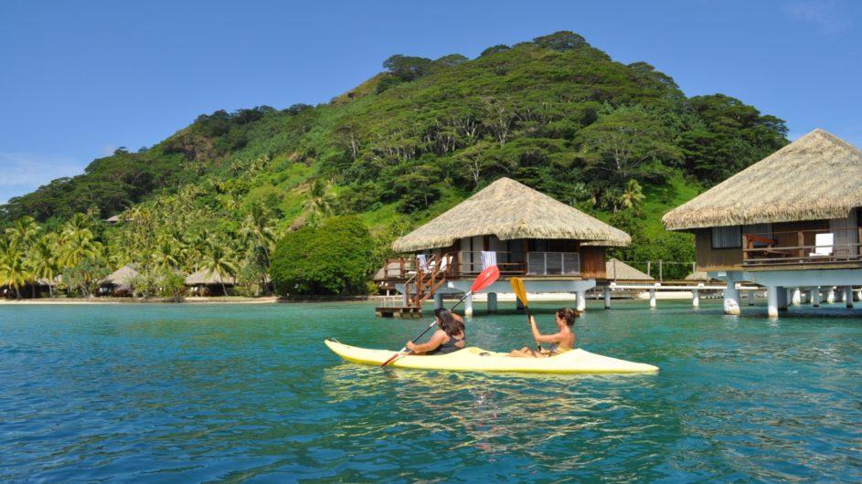 Französisch Polynesien Huahine Royal Huahine Hotel Kayaking