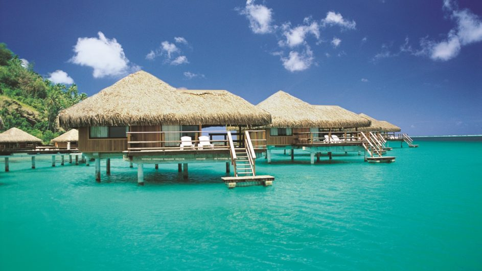 Französisch Polynesien Huahine Royal Huahine Hotel Overwater Bungalow