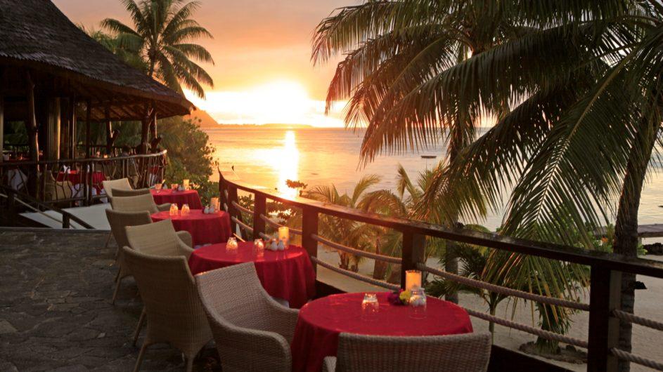 Französisch Polynesien Moorea Hilton Moorea Lagoon REsort Eimero Restaurant