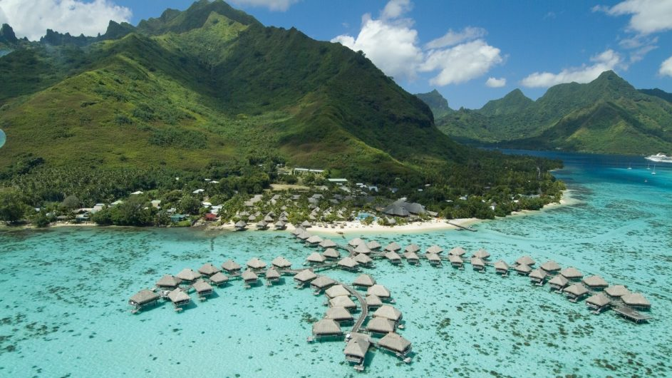 Französisch Polynesien Hilton Moorea Lagoon Resort Resortansicht