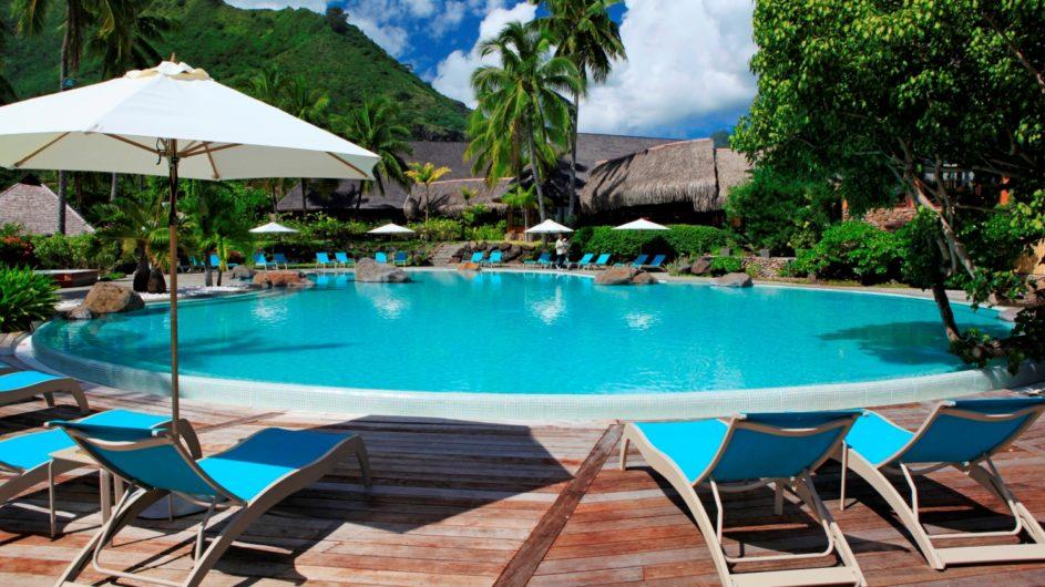 Französisch Polynesien Hilton Moorea Lagoon Resort Pool