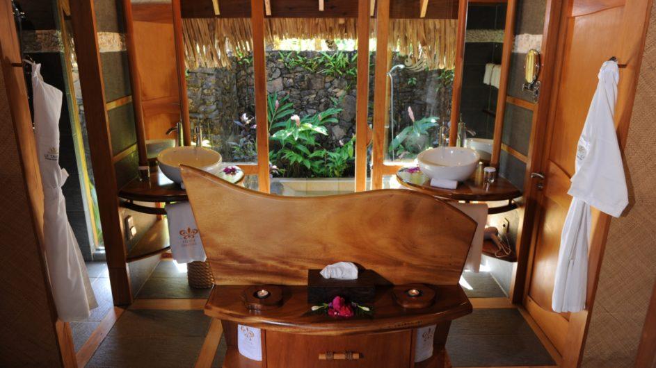 Französisch Polynesien Tahai Island Resort Beach Villa Badezimmer