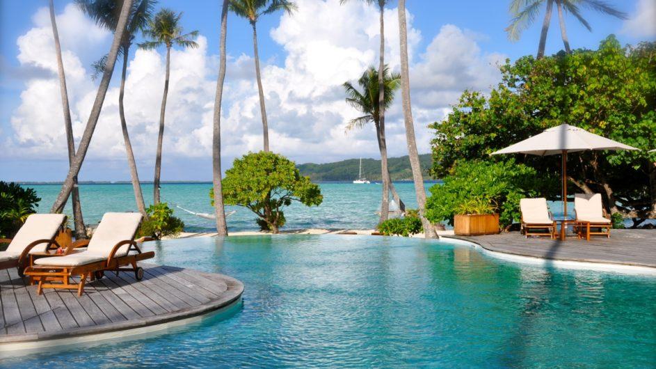 Französisch Polynesien Tahai Island Resort Pool