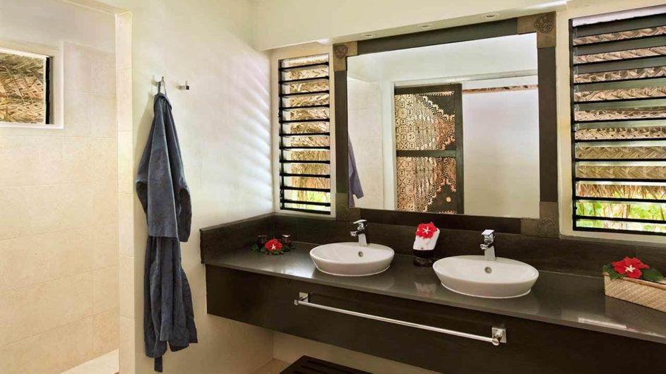 Fiji Mamanuca Inseln Castaway Island Resort Bure Badezimmer
