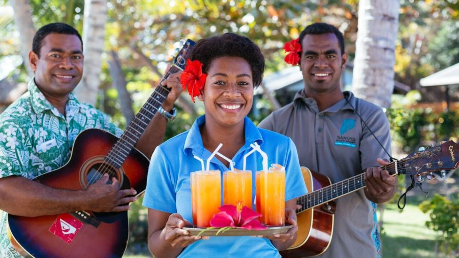 Fiji Yasawa Inseln Nanuya Island Resort Willkommen
