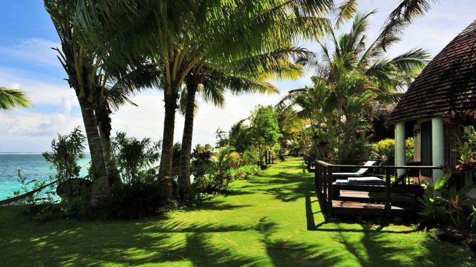 Samoa Savai Le Lagoto Beach Resort Garten