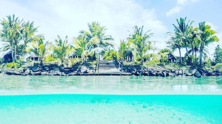 Samoa Savai Le Lagoto Beach Resort Ansicht vom Wasser