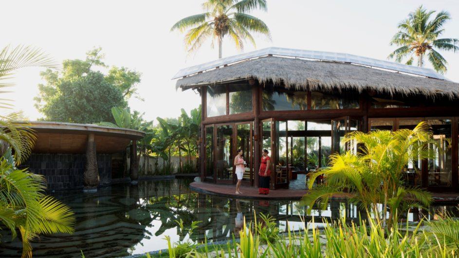 Samoa Upolu Coconut Beach Club Resort Restaurant außen