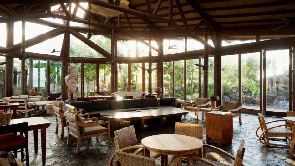 Samoa Upolu Coconut Beach Club Resort Restaurant innen