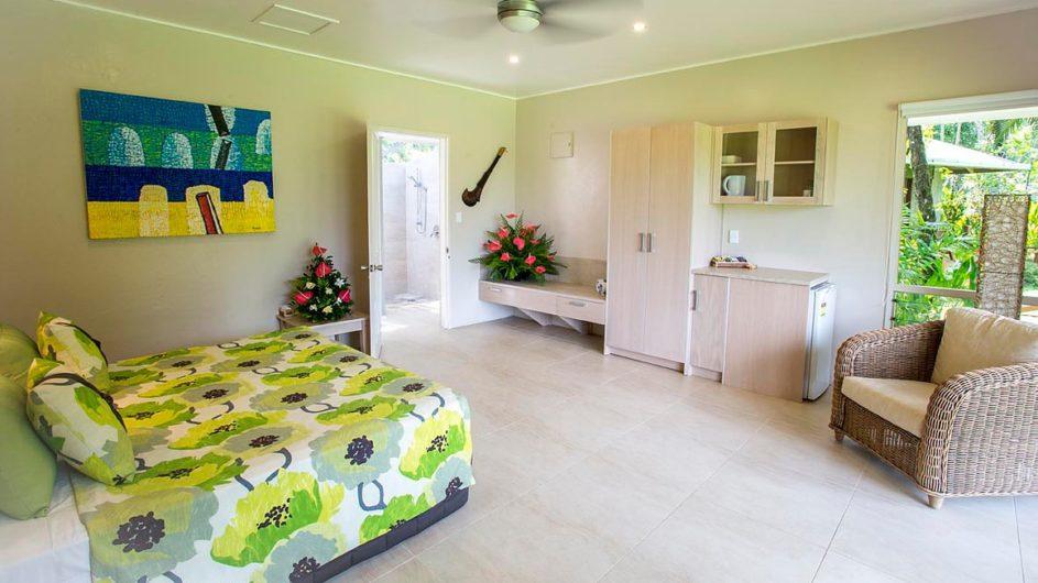 Samoa Upolu Sinalei Reef Reef Resort Gartenvilla Schlafzimmer