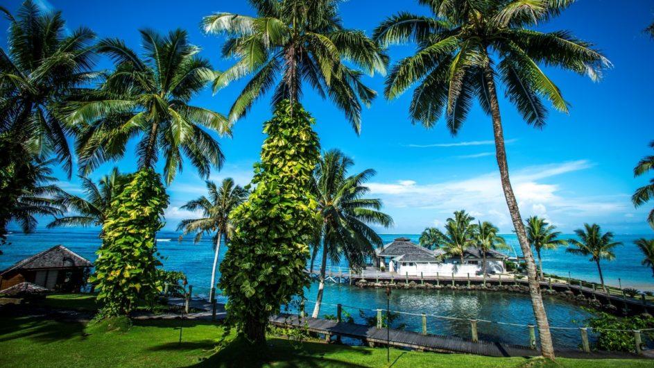 Samoa Upolu Sinalei Reef Reef Resort Garten und Meer