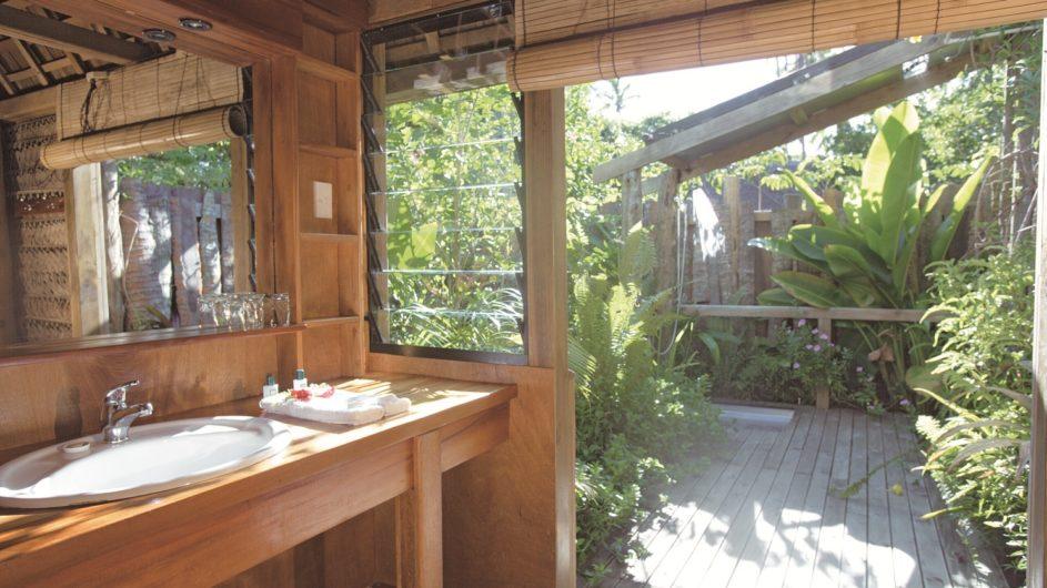 Tonga Tongatapu Fafa Island Resort Fale Badezimmer