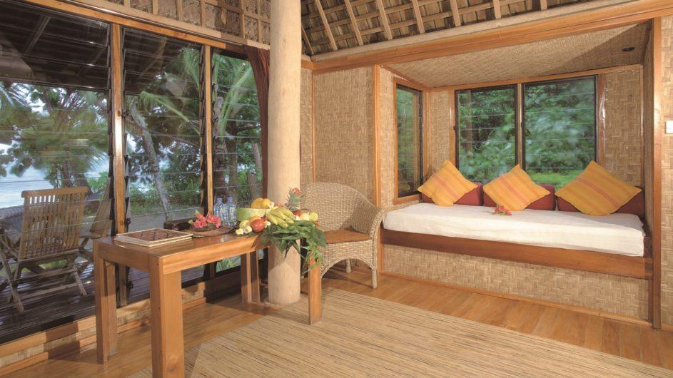 Tonga Tongatapu Fafa Island Resort Fale Blick auf Terrasse