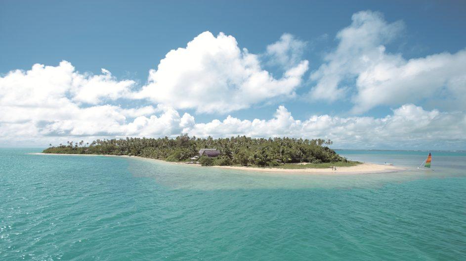 Tonga Tongatapu Fafa Island Resort Inselansicht