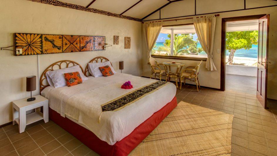 Tonga Haapai Sandy Beach Resort Bungalow innen