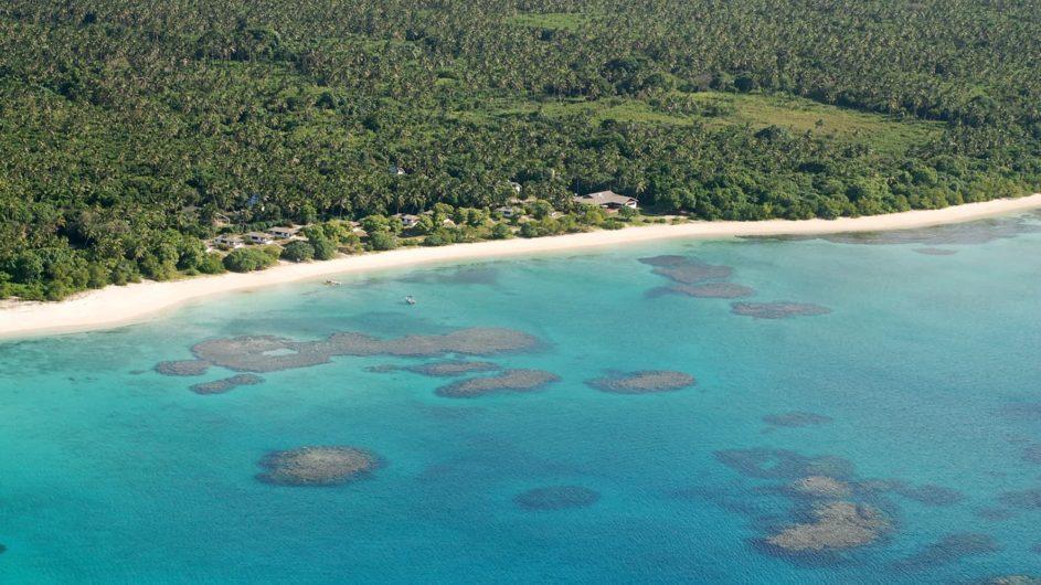 Tonga Haapai Sandy Beach Resort Resortansicht von oben