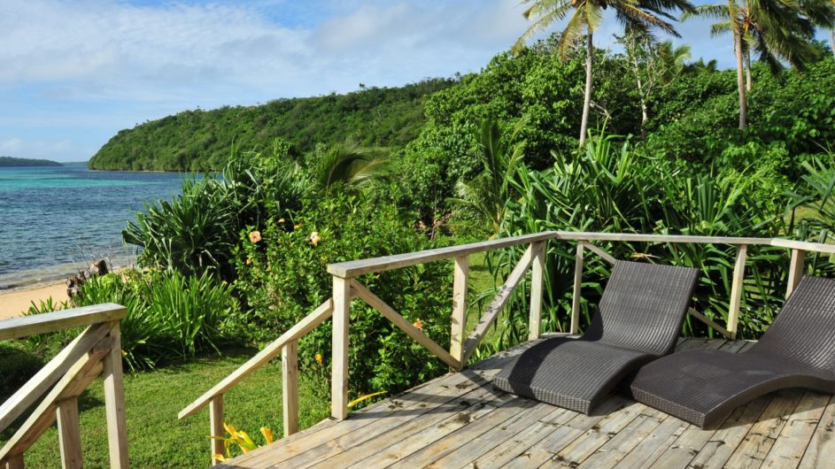 Tonga Vavau Kapa Island Reef Resort Bungalow Terrasse